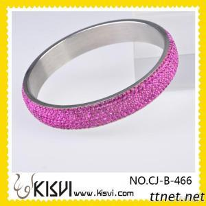 Stainless Steel Crystal Bangle