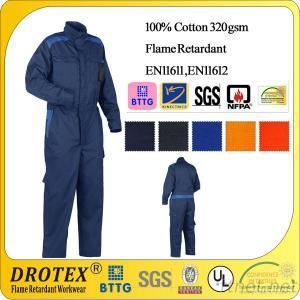 100% Cotton Flame Resistant Firefighting Coverall For Industry