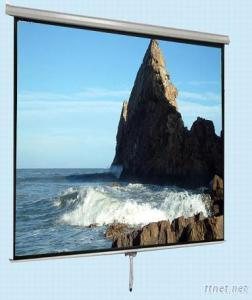 Manual Roll Down Projection Screen With Self-Locking Device