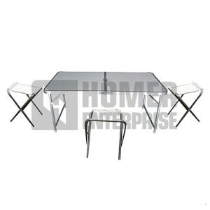 CAMP TABLE W/4 CHAIRS HSH-1597-1