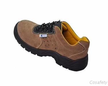 Brown Suede Leather Safety Shoes