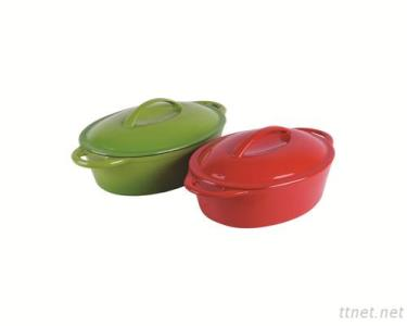 Cast Iron Cookware Dutch Oven Casserole Round Or Oval
