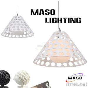 Red And White Indoor Decoration Resin Pendant Lights Contemporary Stype Lamp MS-P1018