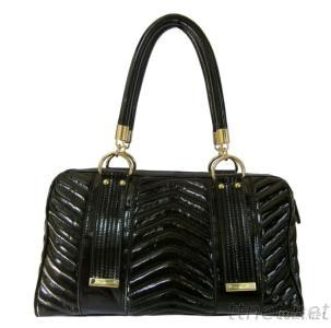 Patent Leather Stitched Wave Tote Handbags