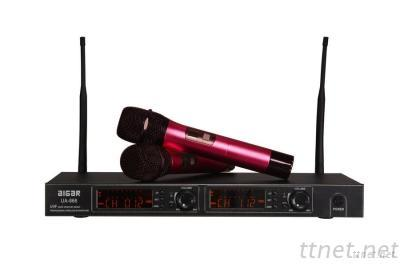 Red Wireless Microphone System