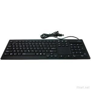 IP68 silicone medical keyboard with touchpad(X-TP106SD)