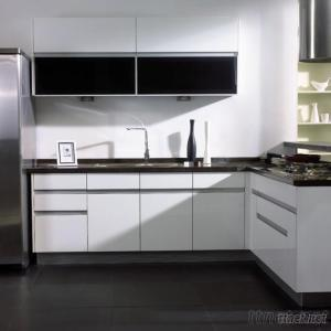 Kitchen Cabinets, White Lacquered, Glossy And  Modern