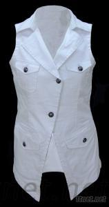 Woman White Vest Clothing