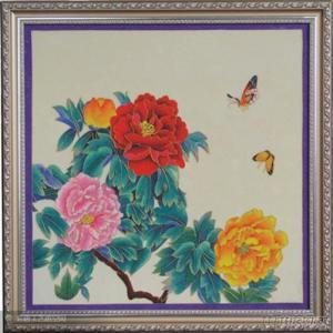 China Folk Art Cloisonne Painting Handmade Closionne Painting