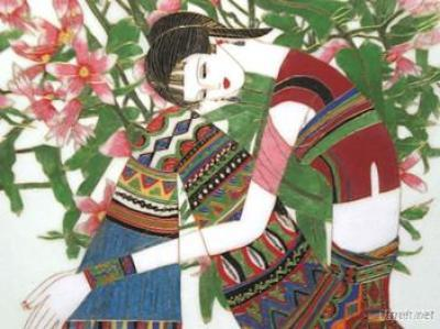 China Folk Art Painting Cloisonne Handicraft Painting Decorating Painting