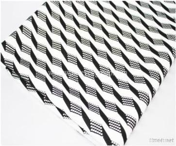 Wholesale polyester stretch composite fabric,Twill net laminate knitting fabric