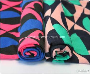 Wholesale 100% polyester fabric printting,color printed Challie fabric