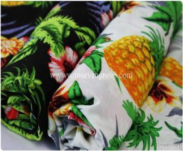 Wholesale 100% Polyester floral  printed chiffon fabric for women dresses