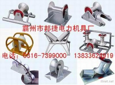 Triple Cable Block, Corner Roller, Heavy-Duty Arched Cable Roller