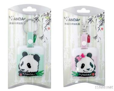 Panda Bag Tag With Key Ring Set (Green)