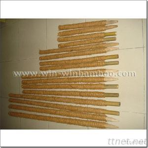 Garden Coconut Covered Bamboo Canes/wooden stakes/ plastic poles
