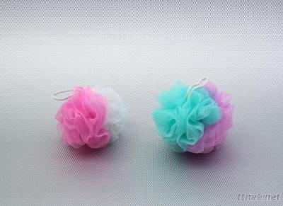 Two Colors Interval Net Bath Ball
