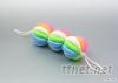 Three Rings Of Five Pieces Colorful Ball Bath Towel
