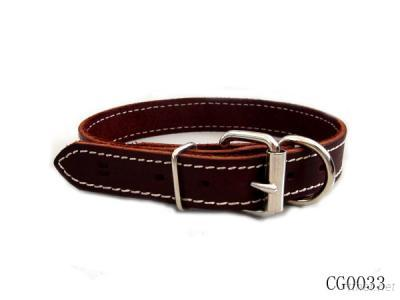 Real Leather Pet Collar And Leashes
