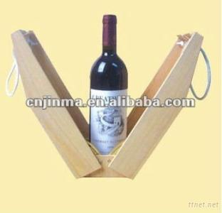 Recycle Wooden Wine Glasses Gift Box