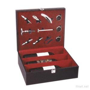 High Quality Leather Wine Box With Accessories