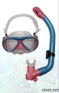 Junior Scuba Silicone Tempered Glass Diving Mask And Snorkel