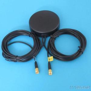 GPS GSM Combo Antenna With RG174 Cable SMA Connector