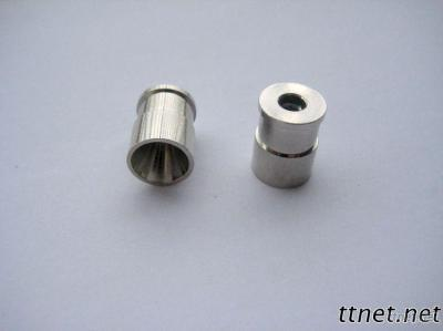CNC Machining Thread Connector With Hole And Zn-Plated Base