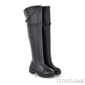 2013 Autumn And Winter Boots, Patent Leather High Boots Knight Plastic Bottom Round Low-Heeled Boots With Thick Soled Sleeve Hasp