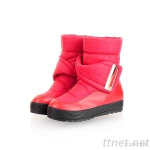 2013 Autumn And Winter Snow Boots Soft Bottom Surface Of The Plastic Tube With Flat Sleeve Round Buckle Belt Buckle Heavy-Bottomed Boots