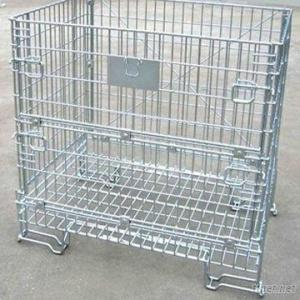 Foldable And Stackable Mesh Container
