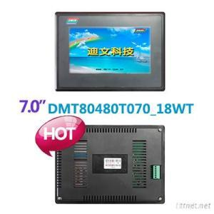 7.0 Inches, 800X480, Industrial LCD Module, RS485/232, With Touch Panel
