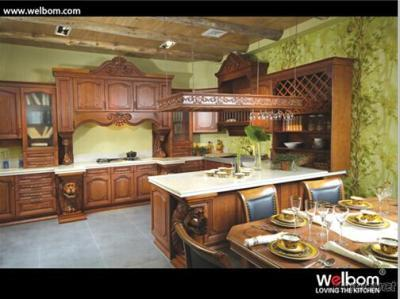 ISO Welbom American Style Classical Solid Wood Kitchen Furniture