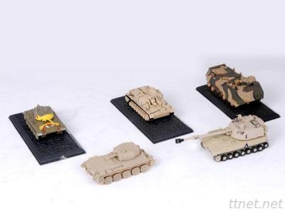 Die-cast military tank model manufacture