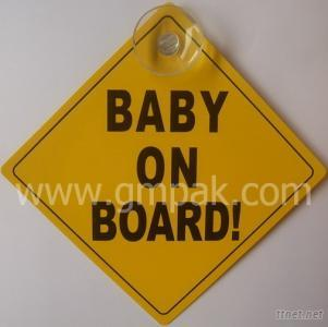 Good quality Baby on board suction cup car window sign