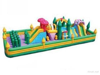 Colourful Inflatable Obstacles