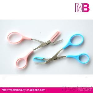 Make Up Accessorries Eyebrow Scissors With Comb