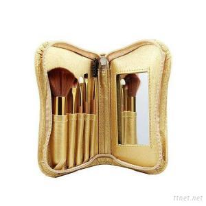 5PCS Luxuriously Soft Mini Brush Set With Mirror