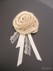 Handmade Flower With Ribbon