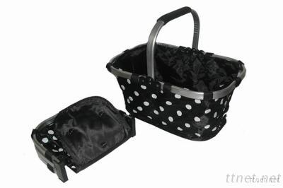 Folded Shopping Basket, Polyester Shopping Basket