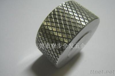 CNC Machining Knurled Aluminum Parts, Turning Pats