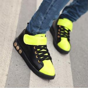 Streets Trend-Setter Leisurely Lace-Up Flats Z0012 Yellow