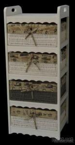 Wooden Cabinet In White Colour
