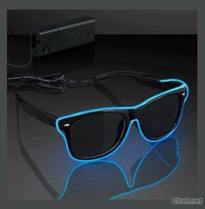 2015 New Led Lighting EL Wire Hipster Sunglasses