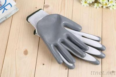 Safety Gloves With Nitrile Palm Coated For Working