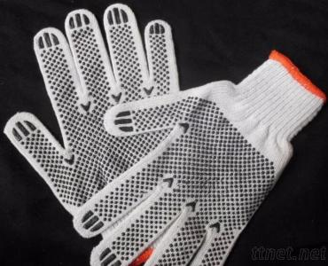 10Gauge Cotton Gloves With PVC Dotted