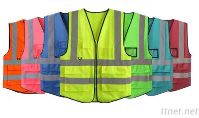 High Visibility Reflective Safety Vest With More Pockets