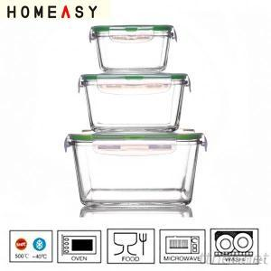 Hot Sale Pyrex Glass Food Container With Airtight Lid