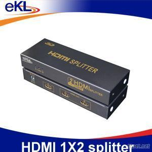 HDMI 2Ports Splitter, Support 1080P/3D, for Security HDTV