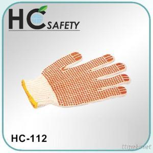 White Cotton Knitted Gloves For Industrial Work